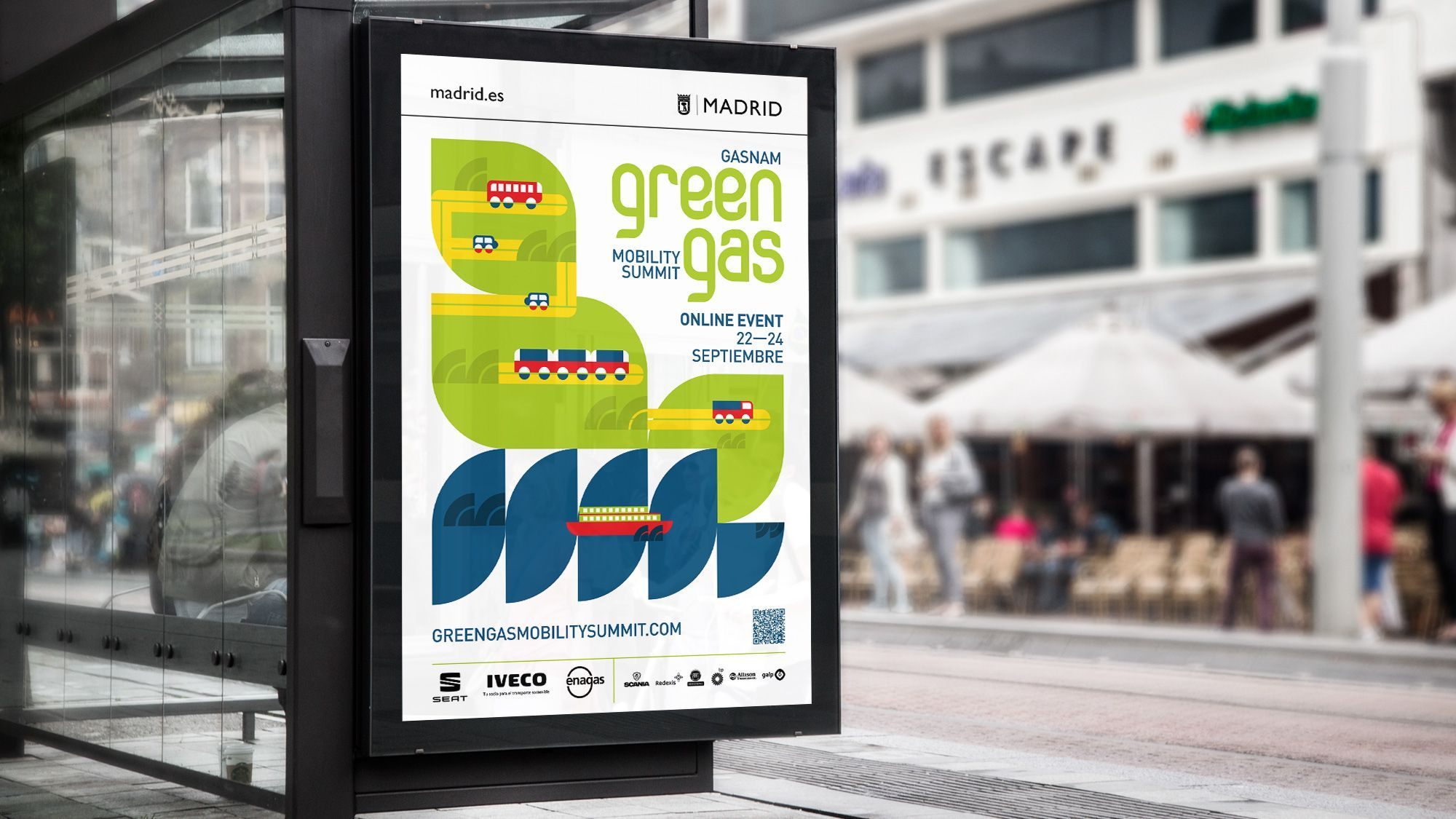 Identidad visual Green Gas Mobility Summit